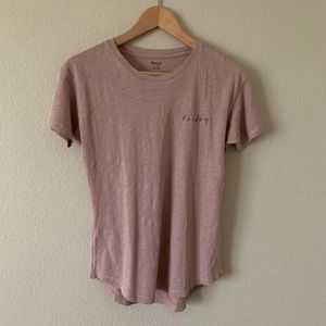 Madewell Friday Tee Embroidered Crew Neck Blush